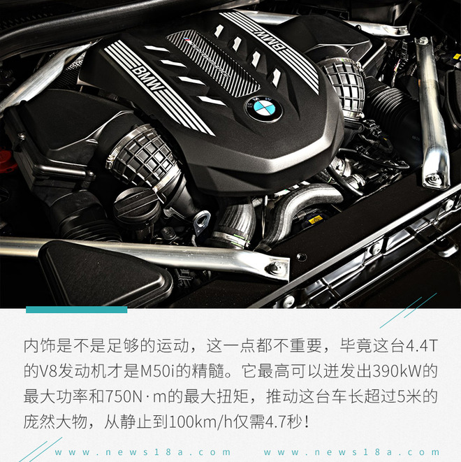 宝马X7 M50i官图解析 百公里加速仅需4.7秒