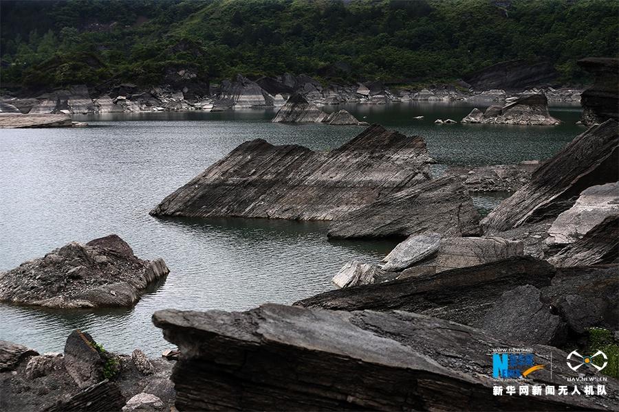 重庆小南海水位下降 高山湖泊现地质奇观