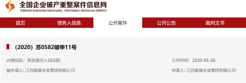 【摩天开户】康科摩天开户技大股东爱康集团破产图片