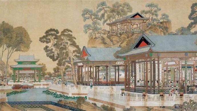 清代绘制《大观园图》:3米多宽画卷,容下173位红楼梦中人