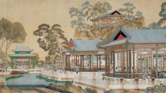 清代绘制《大观园图》:3米多宽画卷,173位红楼梦中人