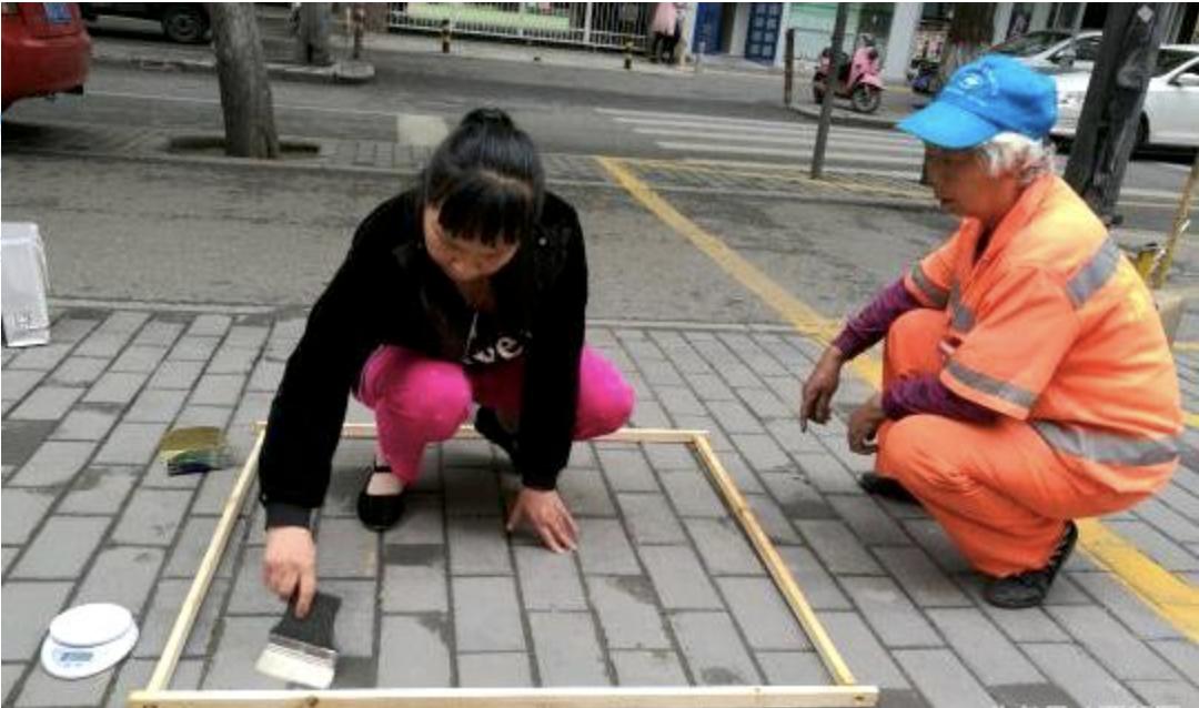 """西安街面清洁再现""""以克论净"""" 官方:3年前实施每月抽查图片"""