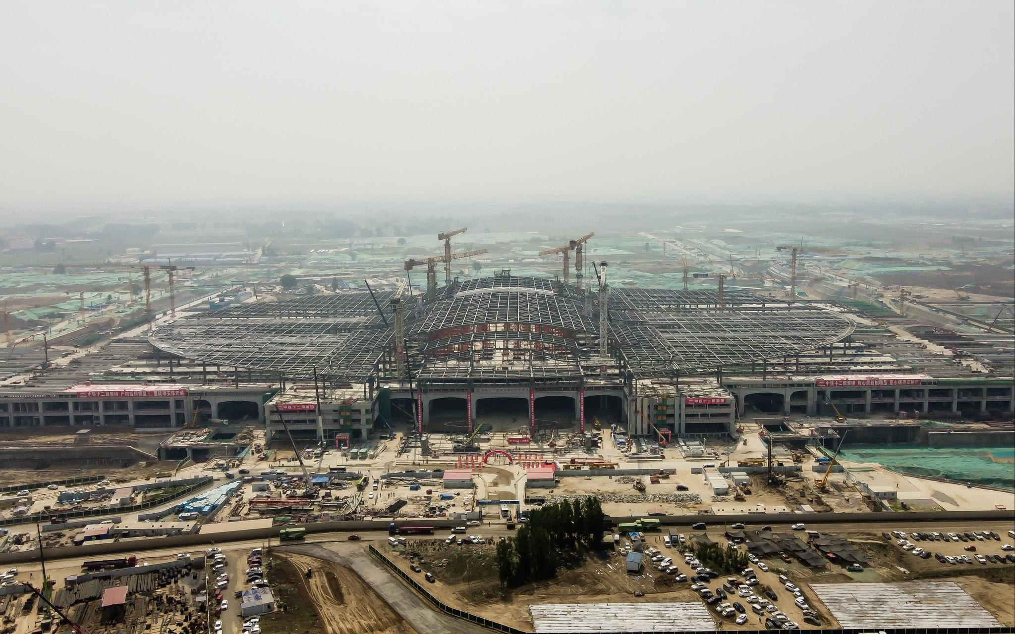 京雄城际雄安站京雄车场主体完工,揭秘车站三大亮点图片