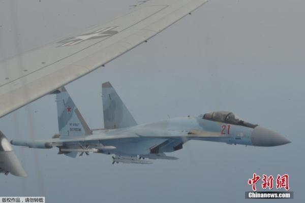 美海军称其巡逻机遭俄战机拦截