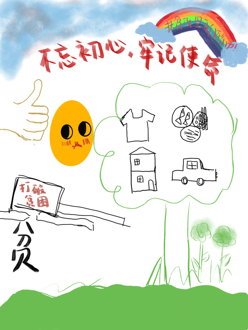 西安工业大学青年学子创作脱贫攻坚主题漫画作品