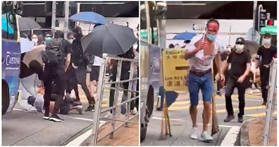 """专访被打香港律师陈子迁:身份被披露后又被""""网暴""""图片"""