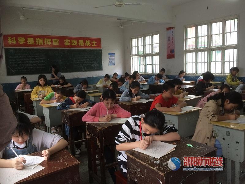 洞口县山门镇中学语文组举办七八年级作文比赛
