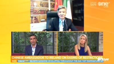 驻爱尔兰大使何向东:中国防疫公开透明,对病毒溯源及疫情应对工作评估持开放态度