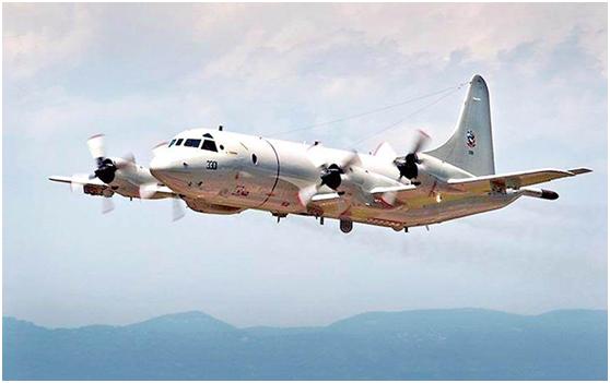 台媒曝美军P-3C反潜机又在台南部海域飞行:经巴士海峡进入南海