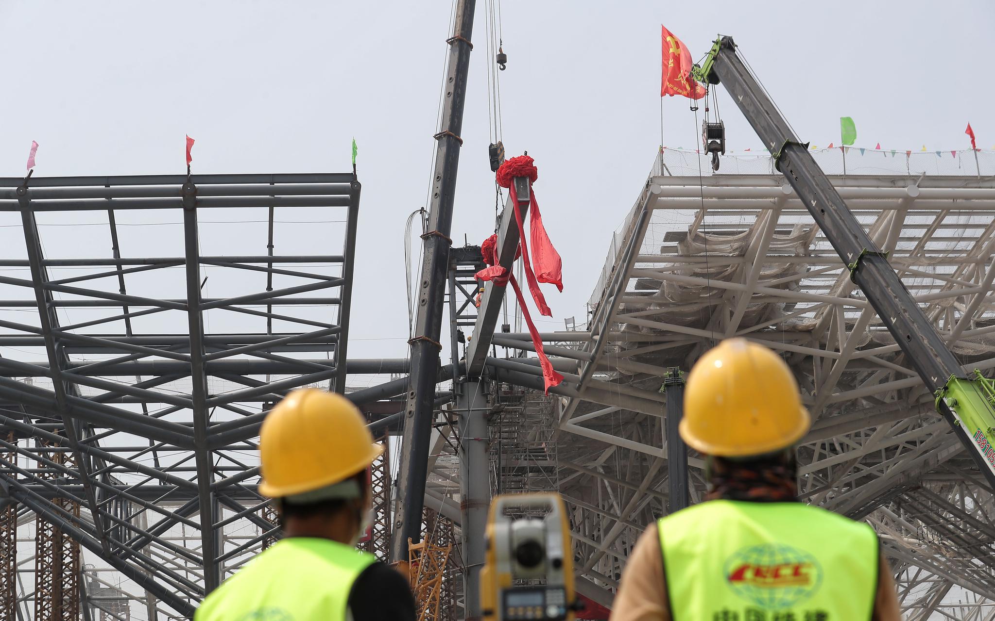 京沈高铁星火站主体结构封顶 预计年底投入使用图片