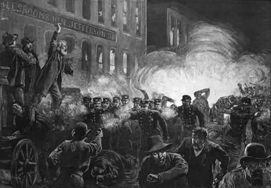 ▲反映芝加哥大罢工的油画,图源:网络