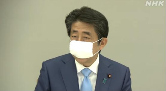 安倍晋三发表讲话。图源:NHK