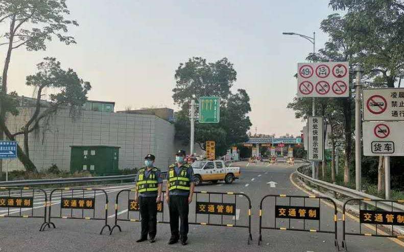 虎门大桥实行交通管制,禁止车辆通行。广东省交通集团有限公司