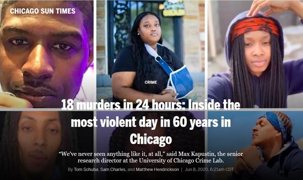 """24小时18起命案 芝加哥经历60年来""""最暴力的一天"""""""