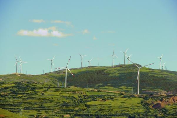 规模宏大的风电场