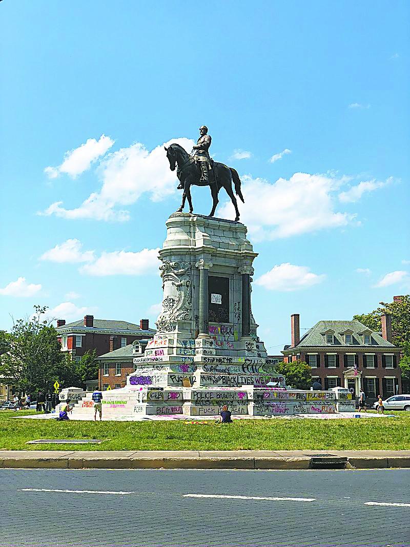 美国种族问题的李将军雕像 夏洛茨维尔| 内战