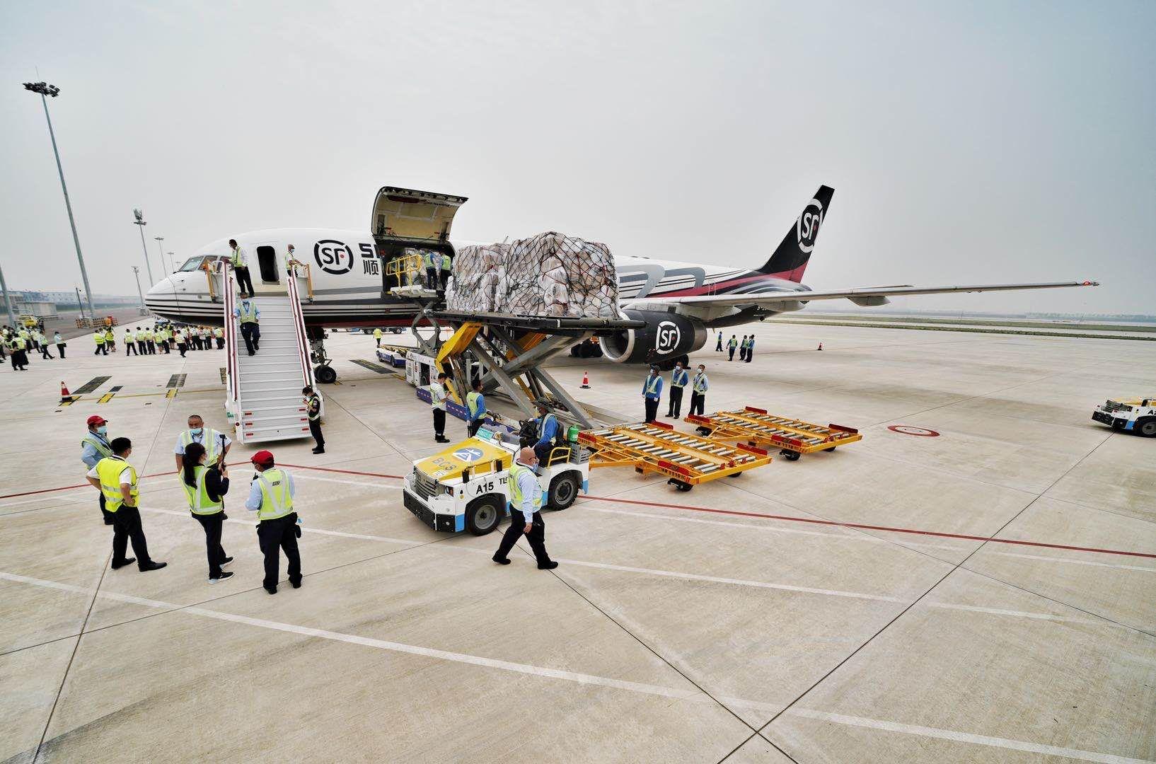 北京大兴机场开通首条货运航线 将与首都机场货运错位发展图片