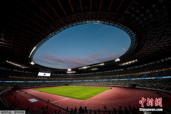 资料图:2020年东京奥运会和残奥会主场馆日本国立竞技场。