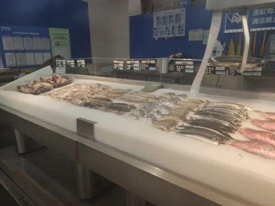 「摩天招商」湖南部分商超下摩天招商架三文鱼图片