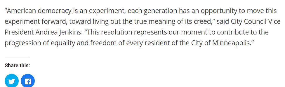 (截图为明尼阿波利斯市官方对于这一改革决议的介绍)