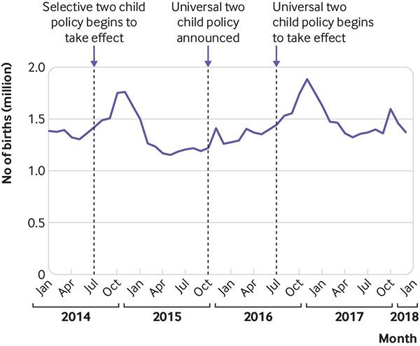 2014年1月至2017年12月中国大陆出生人数。 相干论文 截图