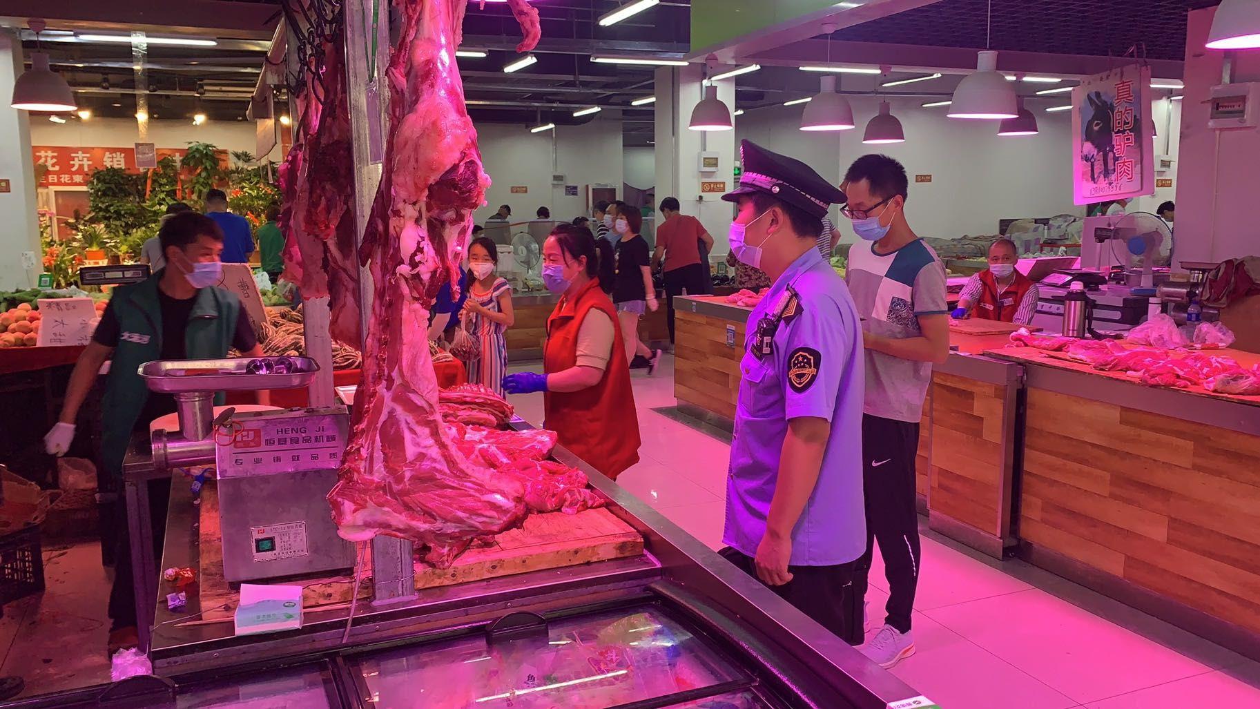 《【超越娱乐注册】北京封存从新发地采购的肉类、海鲜 对销售场所环境采样》