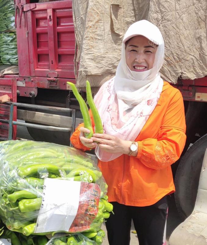 """""""辣椒大王""""王福娟:一天内组建临时车队保证蔬菜供应图片"""