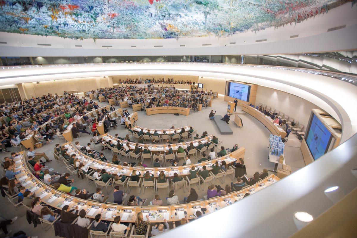 联合国日内瓦万国宫 (图源:人权理事会脸书主页)
