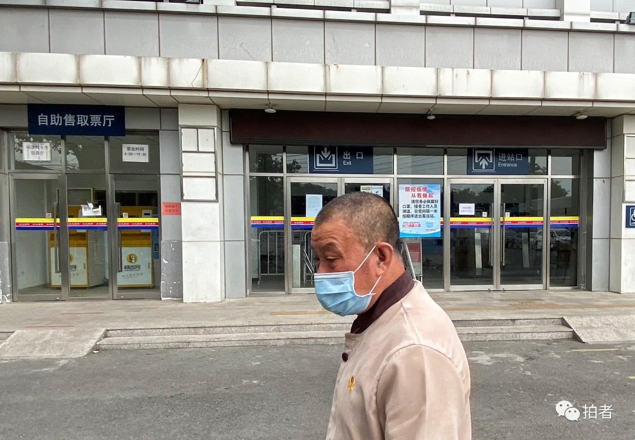 △6月17日,永定门客运站进站口已封闭,停息利用。拍照/新京报记者王贵彬