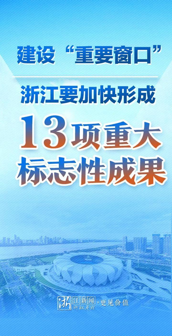 杏悦:重要窗口 浙江要加快形成13项杏悦重大图片