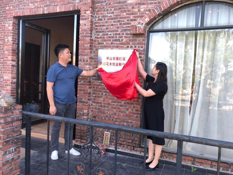 中山:横栏首个花木创业孵化基地揭牌