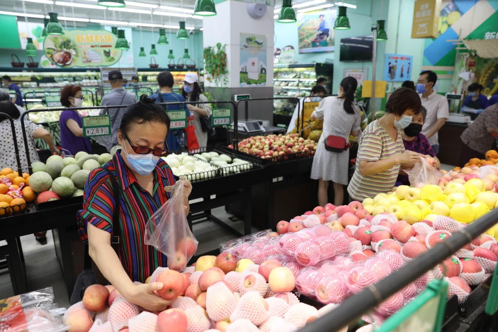 探访北京京客隆超市:黄瓜销售量曾达日常十倍,现已回落图片