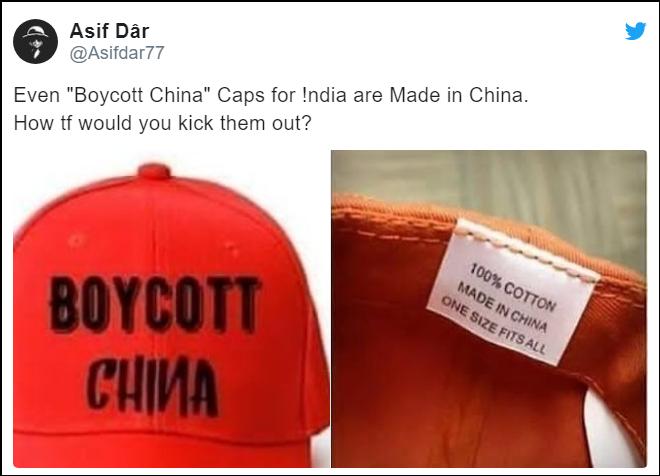 """印度网民疯抢""""抵制中国""""文化衫 一看产地尴尬了图片"""