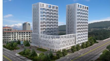 威海孙家疃北海文化艺术产业园两栋13层楼外观设计有变