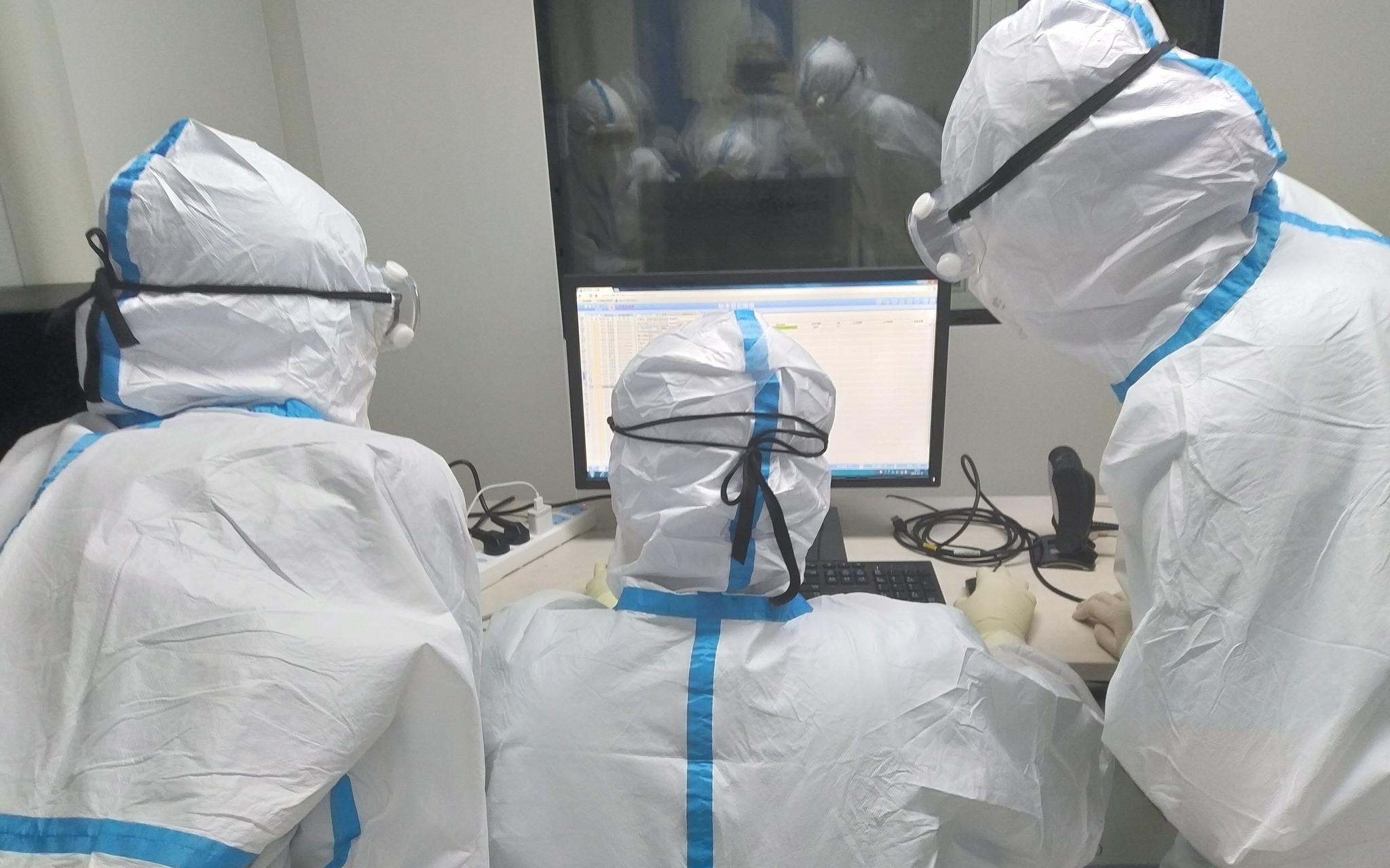 北京朝阳医院核酸检测能力提升 单日单检超万份图片