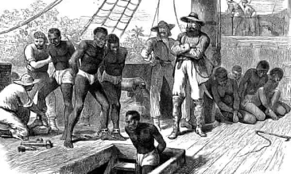 英国王室18世纪中叶批准了向北美殖民地贩卖黑奴