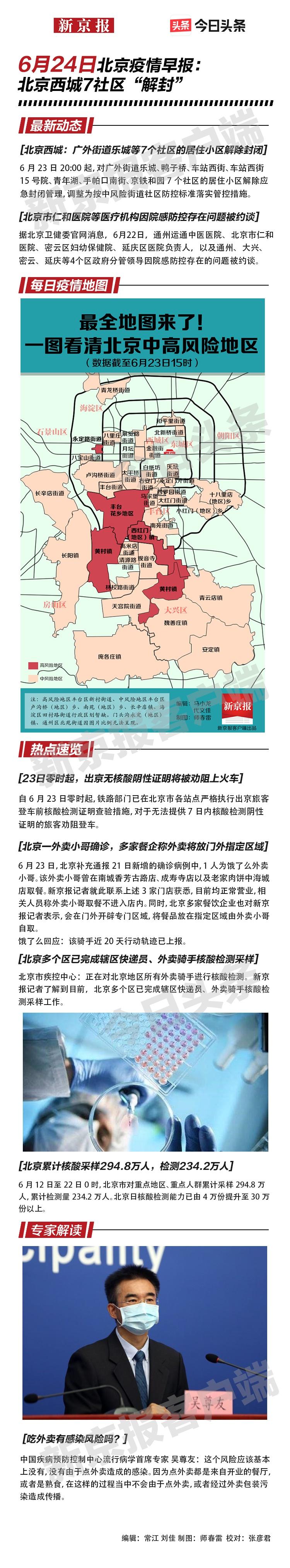 【摩天登录】6月24摩天登录日北京疫情早报图片