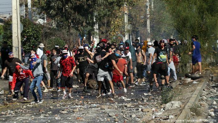 2020年5月19日智利示威群众