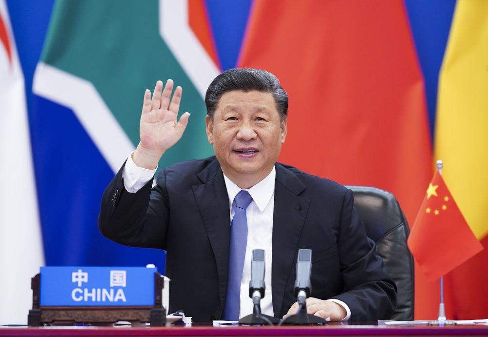 2020年6月17日,习近平主席主持中非连合抗疫稀奇峰会并揭晓主旨发言。新华社记者 黄敬文 摄