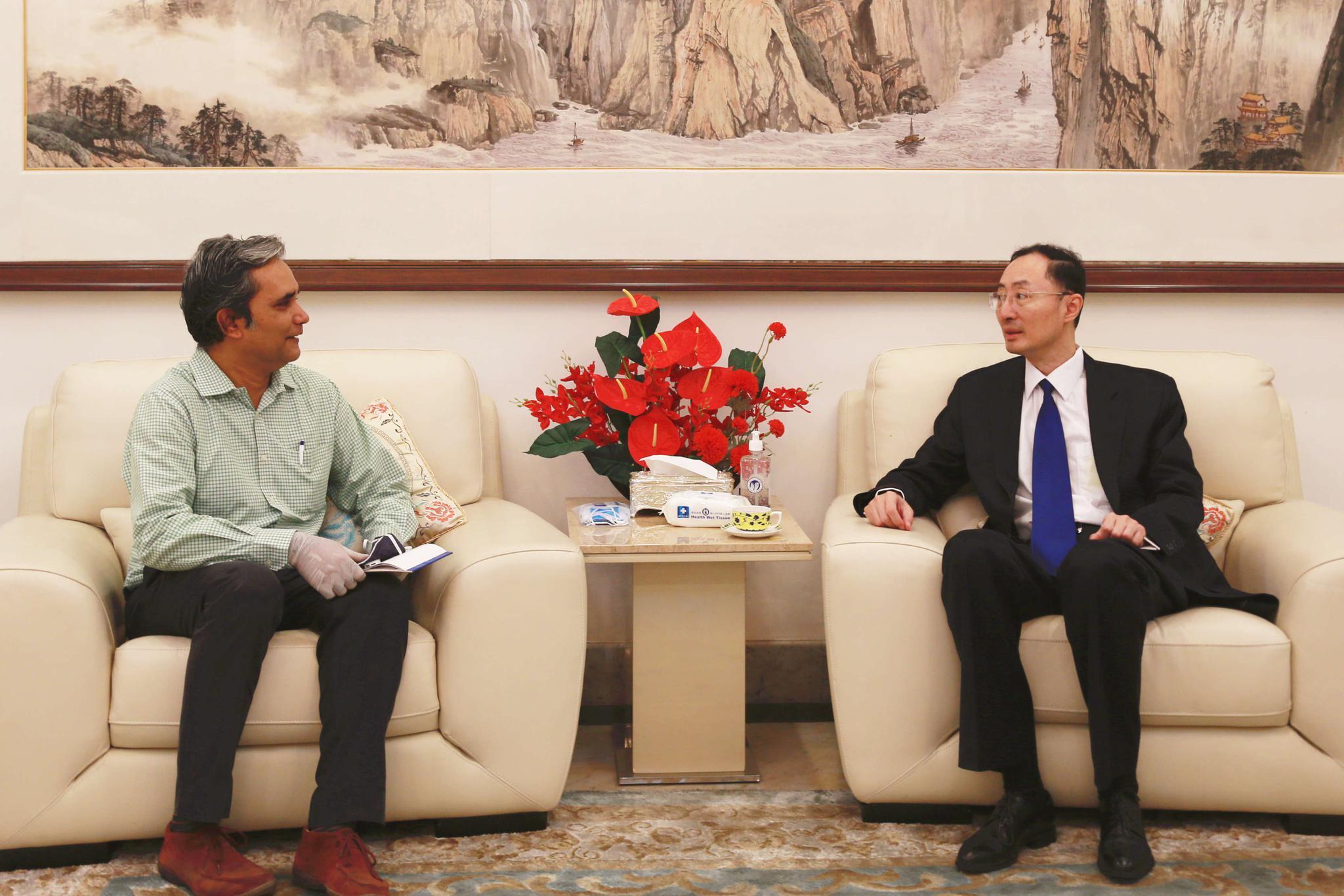 驻印度大使孙卫东接受印度报业托拉斯专访谈中印加勒万河谷事件