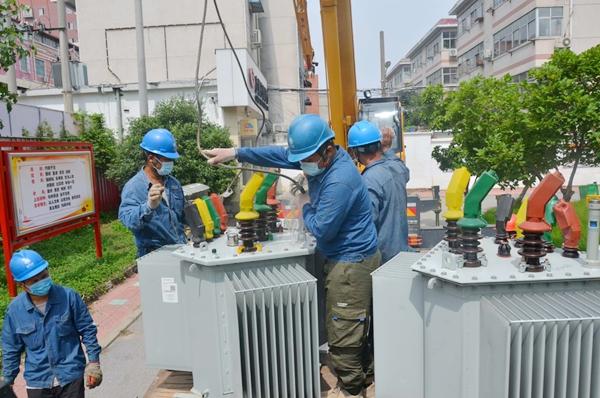 国网上蔡县供电公司新增15台专变保障高招中招供电正常