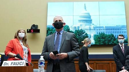 6月23日安东尼•福奇出席众议院委员会听证会 (图片来源:《金融时报》)