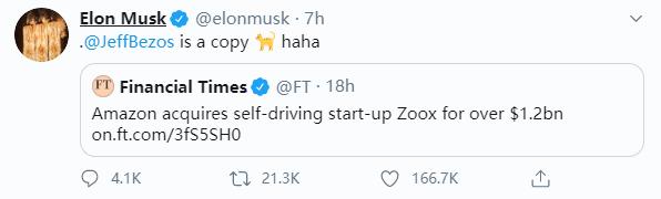 ElonMusk推特,来源:推特