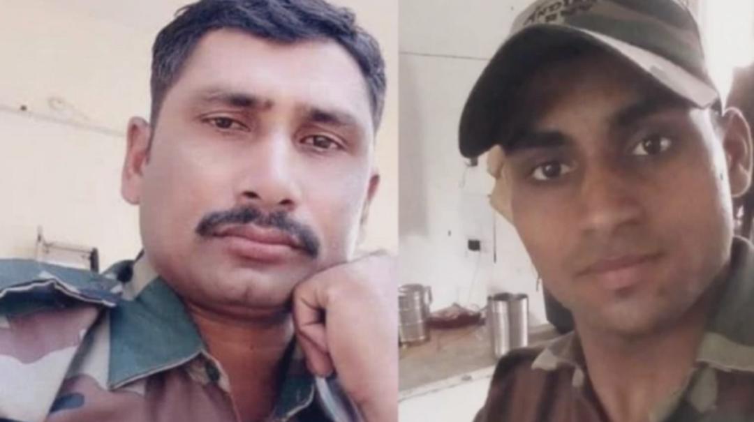 两名死亡印度士兵莫尔(左)和汗