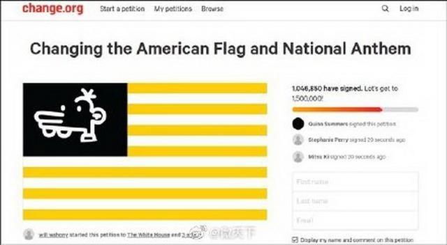 """老司机带你看""""上百万网民请愿修改美国国旗"""""""