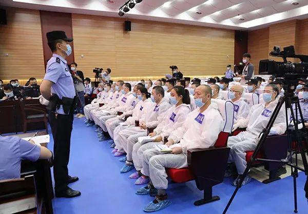 贾延成涉黑团伙在西安未央区法院受审。 未央法院 图