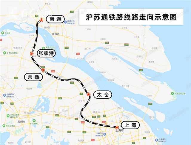 沪苏通铁路7月1日开通运营图片