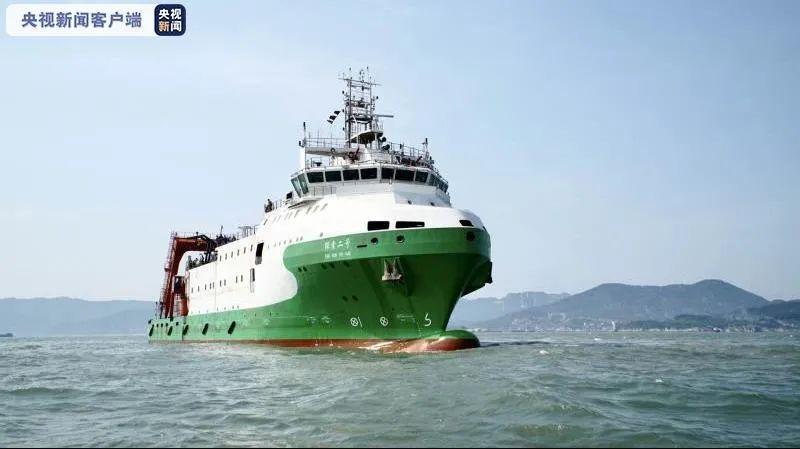 """再添利器:万米载人潜水器支持保障母船""""探索二号""""抵达三亚"""