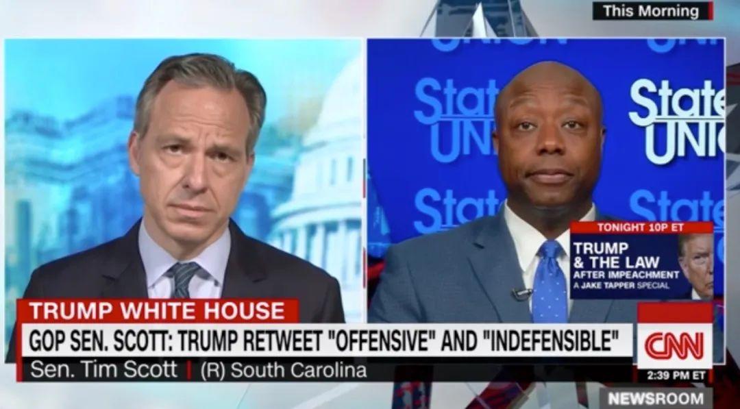 斯科特接受采访视频。/ CNN网站截图