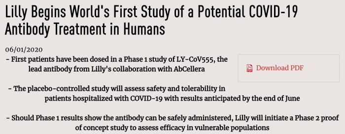 全球首个新冠肺炎抗体药物开始人体临床试验图片